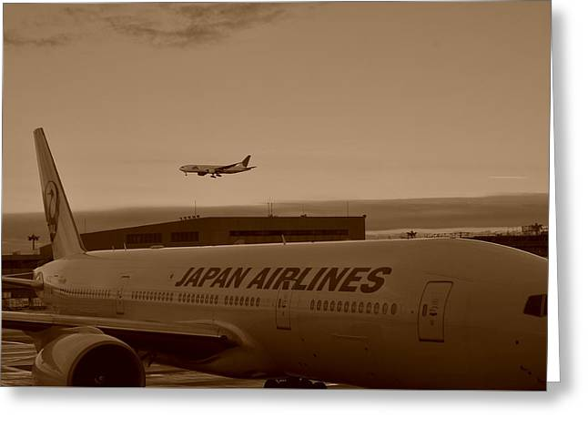 Leaving Japan Greeting Card by Miguel Winterpacht