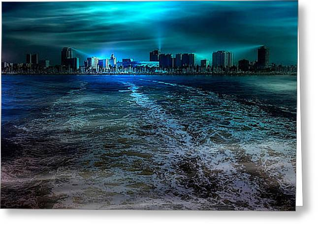 Leaving Long Beach Greeting Card