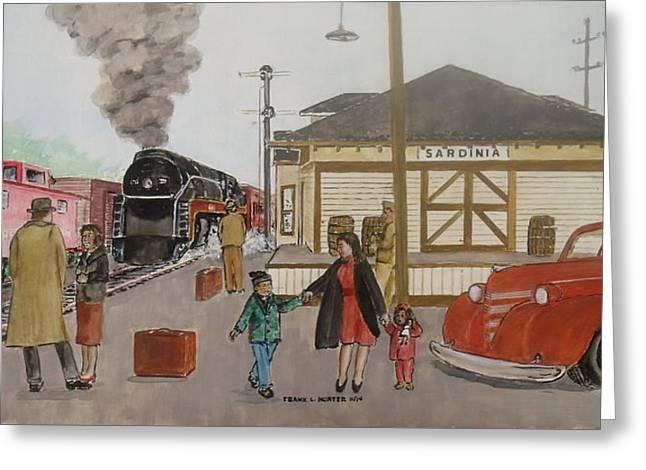 Leaving Sardinia 1944 Greeting Card by Frank Hunter
