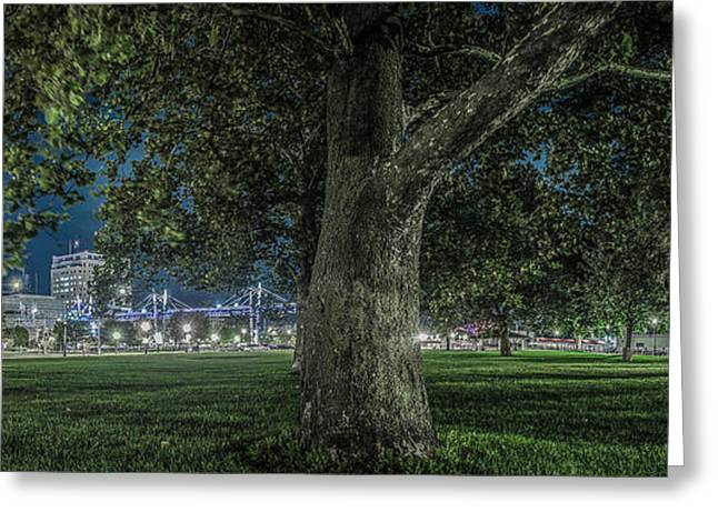 Leclaire Park Greeting Card by Ray Congrove