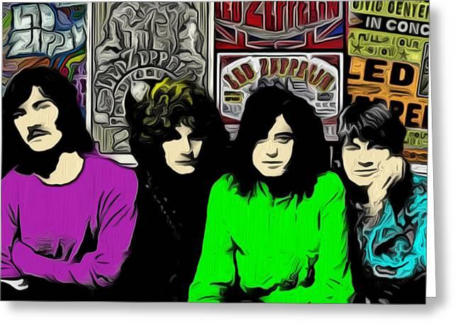 Led Zeppelin Greeting Card by GR Cotler