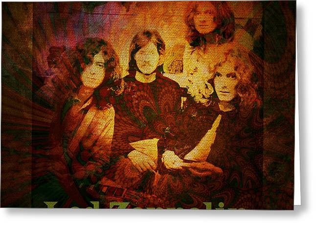 Led Zeppelin - Kashmir Greeting Card by Absinthe Art By Michelle LeAnn Scott