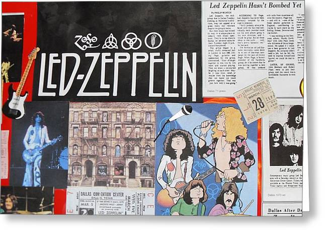 Led Zeppelin Past Times Greeting Card by Donna Wilson