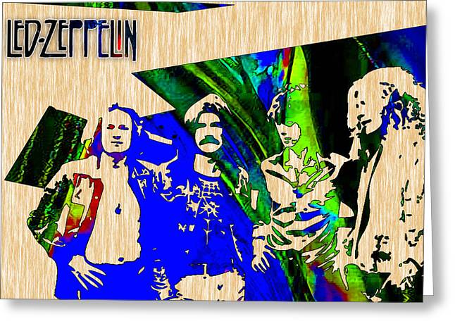 Led Zeppelin Wall Art Greeting Card by Marvin Blaine