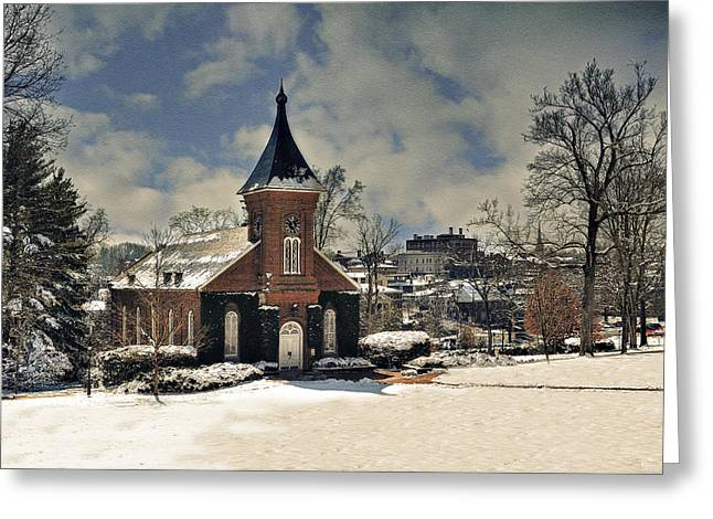 Lee Chapel February 2012  Greeting Card by Kathy Jennings
