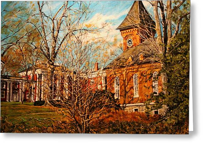 Lee Chapel From The Lower Walk Greeting Card
