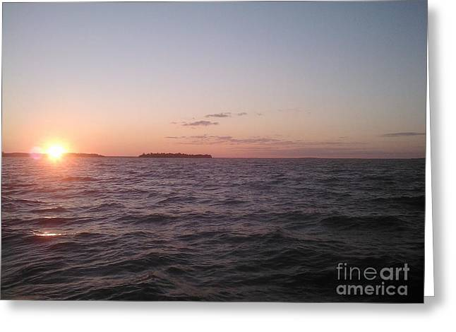 Leech Lake Sunset Greeting Card