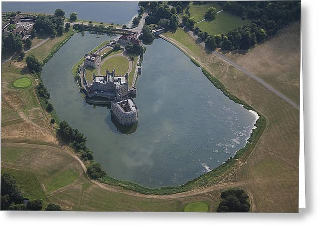 Leeds Castle From Above Greeting Card by Nigel Jones