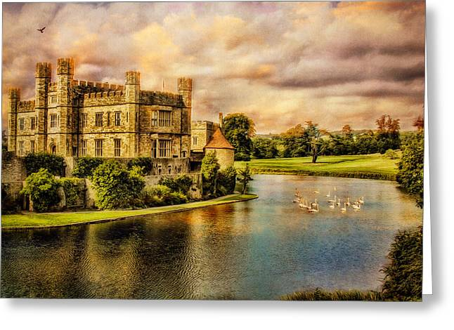 Leeds Castle Landscape Greeting Card by Chris Lord