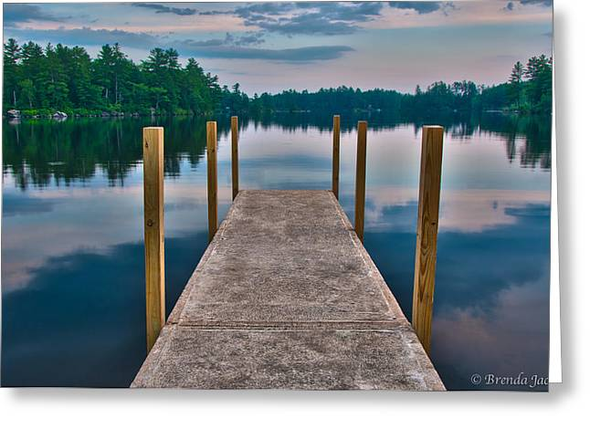 Lees Mills Dock Greeting Card