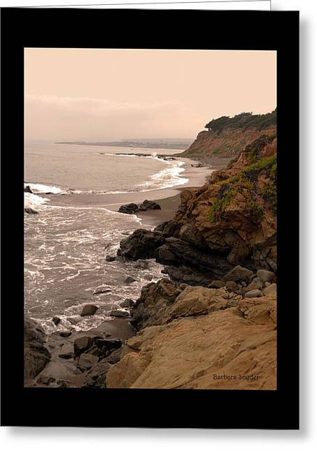 Leffingwell Landing Cambria Duvet Greeting Card by Barbara Snyder