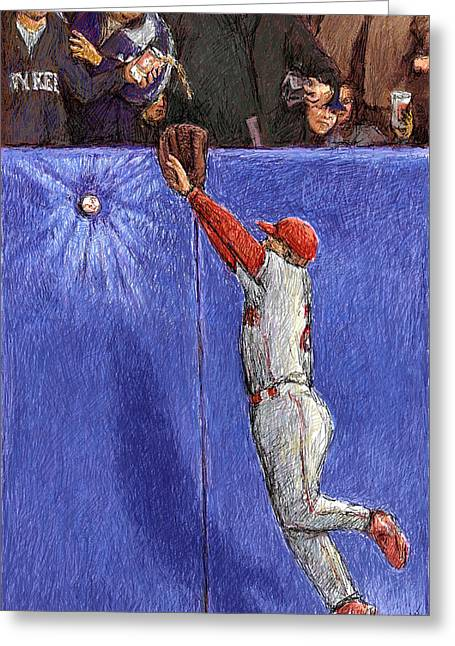 Left Field Wall Greeting Card
