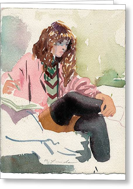 Leg Warmer Student Greeting Card by Mark Lunde