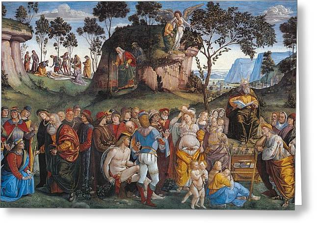 Legacy And Death Of Moses Greeting Card by Luca Signorelli