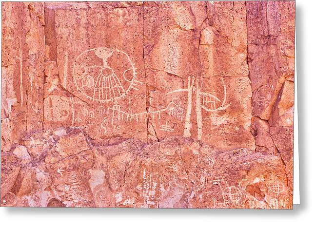Petroglyphs Owens Valley California Greeting Card