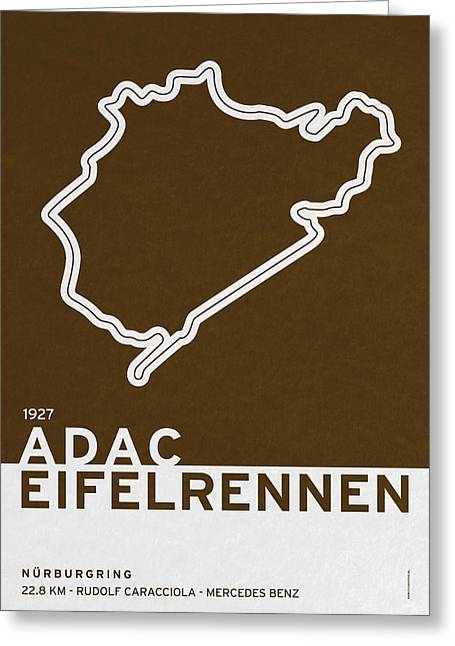 Legendary Races - 1927 Eifelrennen Greeting Card