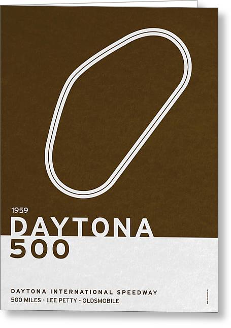Legendary Races - 1959 Daytona 500 Greeting Card by Chungkong Art