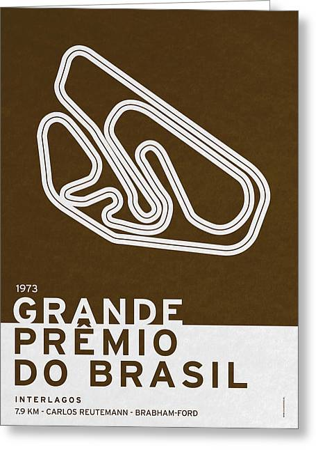 Legendary Races - 1973 Grande Premio Do Brasil Greeting Card