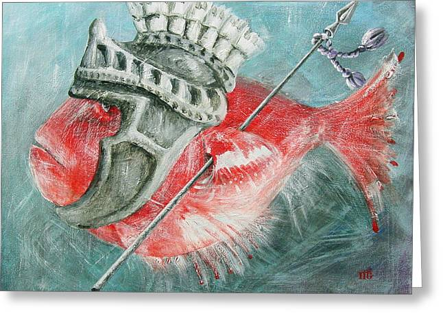 Greeting Card featuring the painting Legionnaire Fish by Marina Gnetetsky