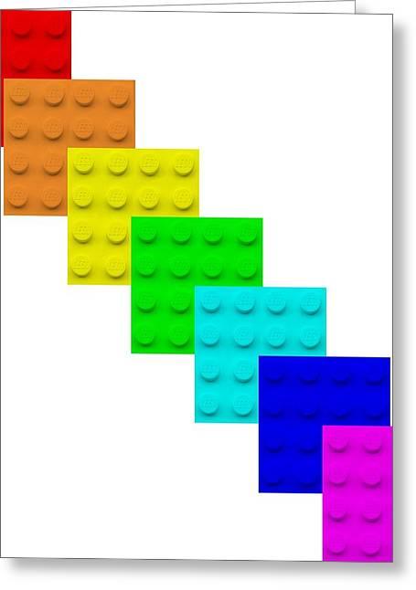 Lego Box White Greeting Card
