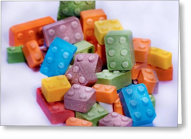 Lego Candy Blocks Greeting Card