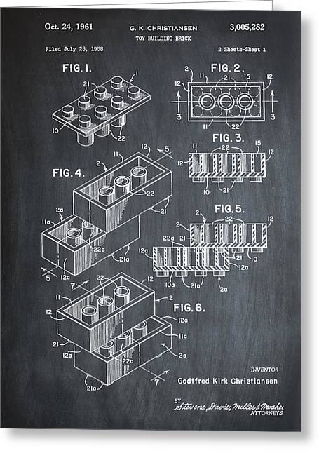 Lego Patent 1961 Greeting Card