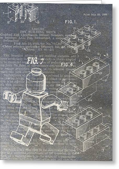 Lego Patent Greeting Card by Nick Pappas