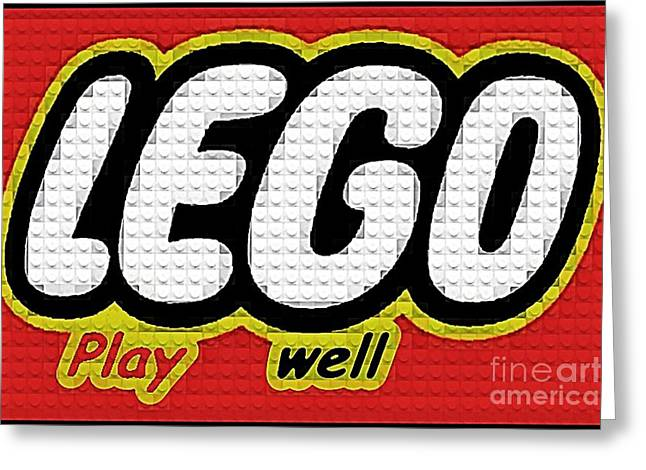 Lego Play Well Greeting Card by Scott Allison