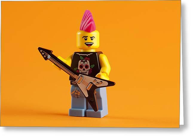 Lego Punk Rocker Greeting Card