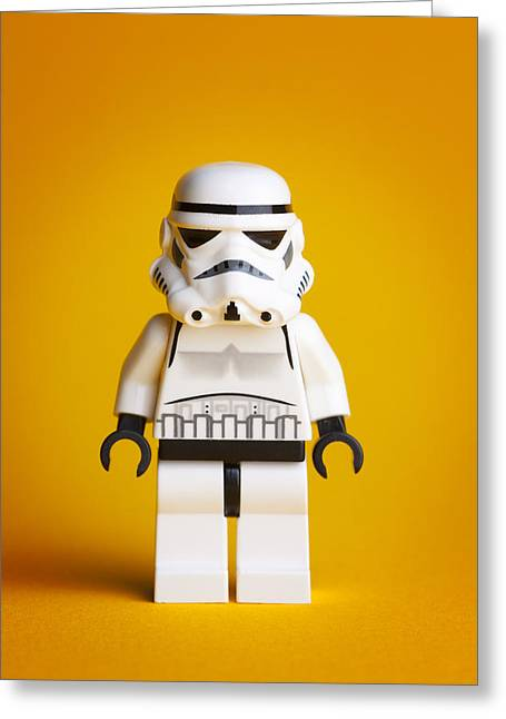 Lego Storm Trooper Greeting Card by Samuel Whitton