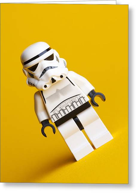 Lego Stormtrooper Greeting Card by Samuel Whitton