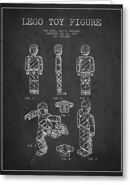 Lego Toy Figure Patent - Dark Greeting Card