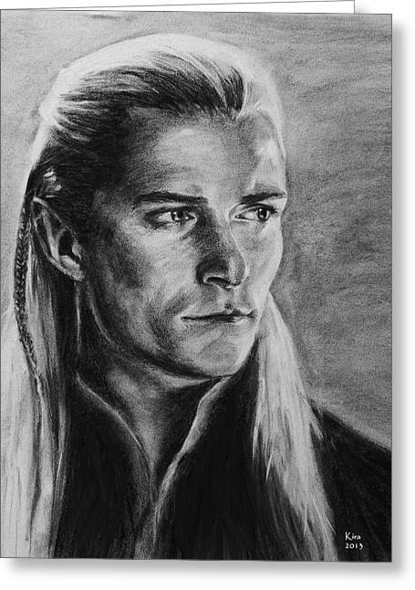 Legolas Greeting Card by Kira Rubtsova