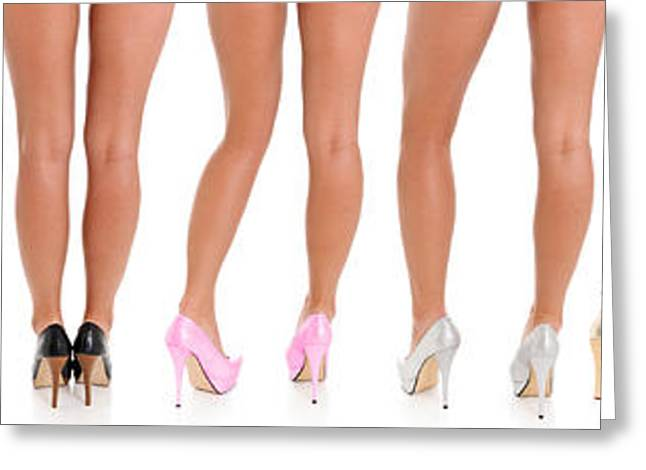Legs And Heels Greeting Card by Jt PhotoDesign