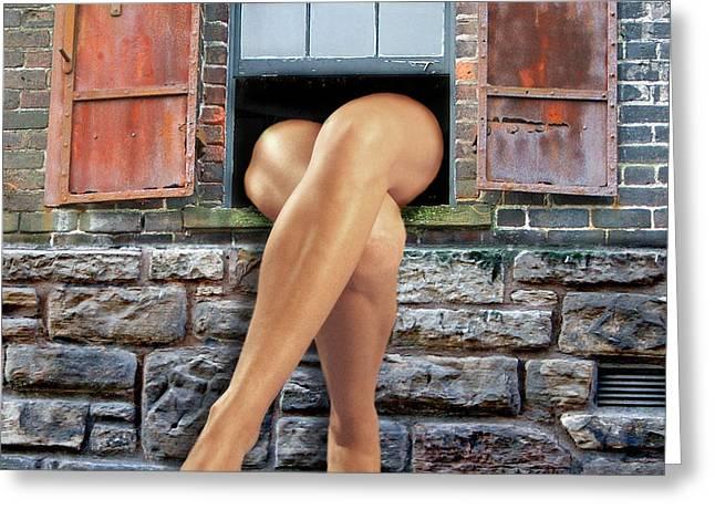 Legs Greeting Card by Nina Bradica