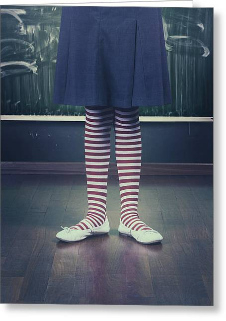 Legs Of A Schoolgirl Greeting Card by Joana Kruse