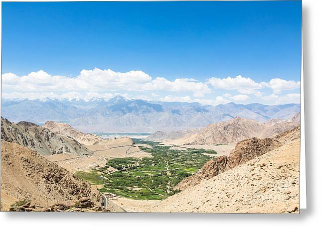 Leh Valley Greeting Card