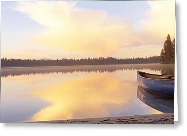 Leigh Lake, Grand Teton Park, Wyoming Greeting Card