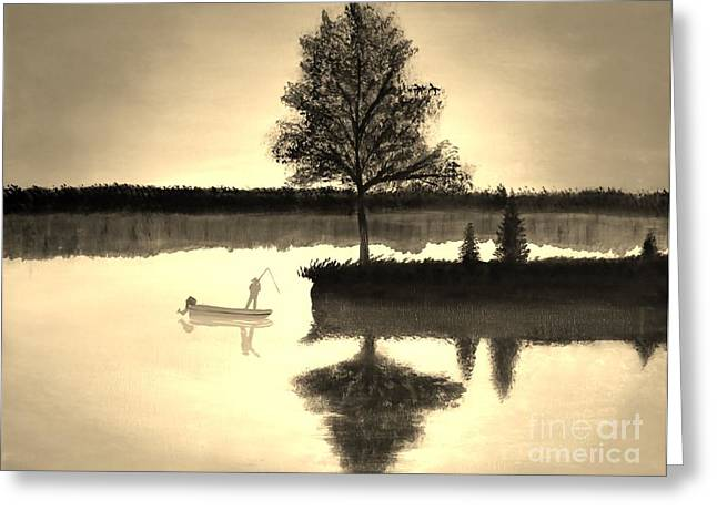 Leisure Time Greeting Card by Tim Townsend