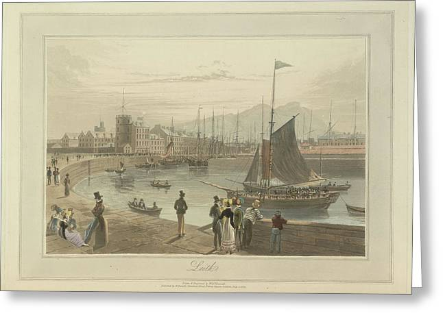 Leith Coastal Landscape Greeting Card by British Library