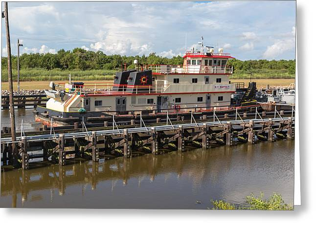 Greeting Card featuring the photograph Leland Bowman Locks 3 by Gregory Daley  PPSA