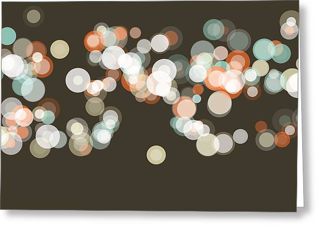 Lemans Bokeh Circle Pattern Horizontal Greeting Card
