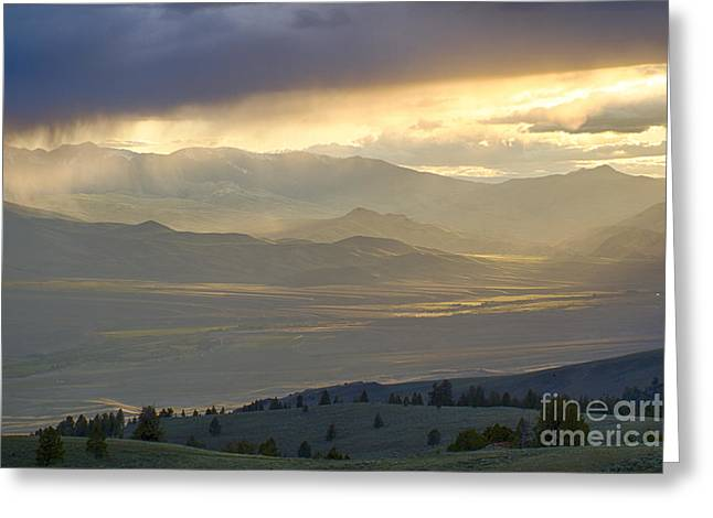 Lemhi Valley Light Greeting Card by Idaho Scenic Images Linda Lantzy