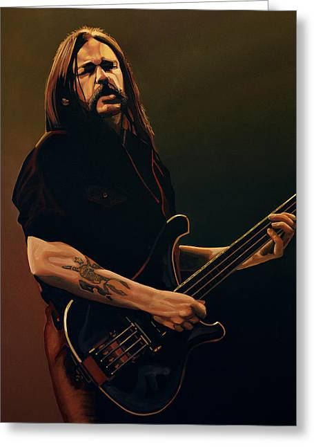 Lemmy Kilmister Painting Greeting Card by Paul Meijering