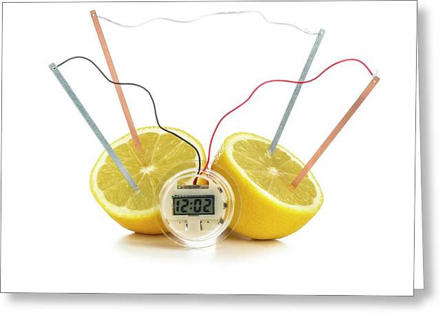Lemon Clock Greeting Card