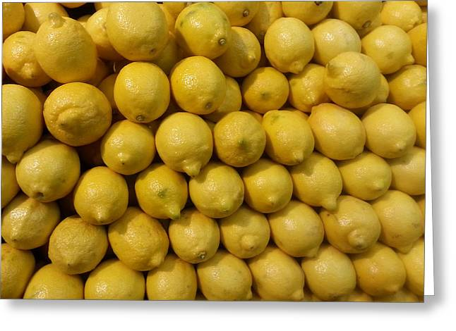 Lemon Drops Greeting Card by Emmy Marie Vickers