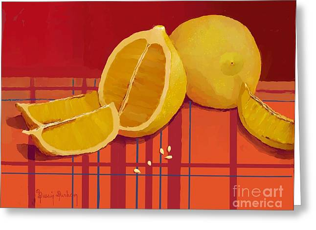 Lemon Family With Seeds Greeting Card
