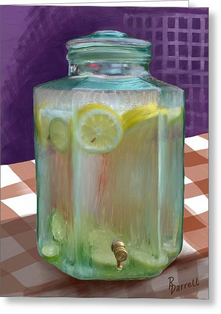 Lemon Limeade Greeting Card