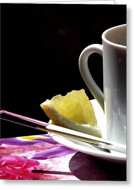 Lemon Please Greeting Card by Angela Davies