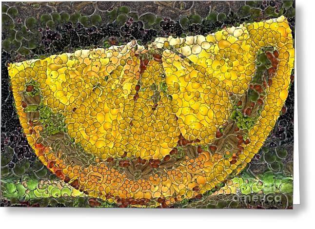 Lemon Slice Greeting Card by Dragica  Micki Fortuna